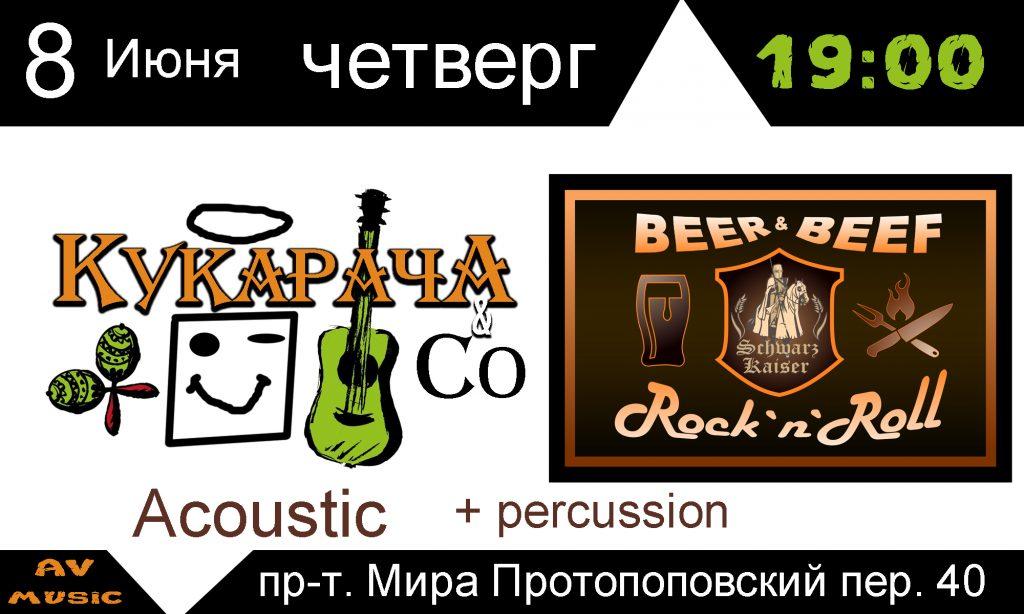 Schwarz Kaizer, acoustic, concert, live music, Av-music, kukaracha, rock, rap, pivo, myaso, rock-n-roll, moscow, afisha