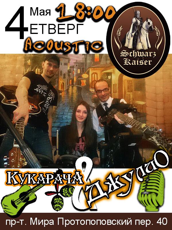 Schwarz Kaizer, acoustic, concert, live music, Av-music, kukaracha, rock, rap, pivo, myaso, rock-n-roll, moscow, afisha, jolio, djulio,