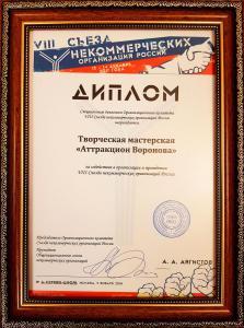 diplom, nekomercheskih organizaciy, attraction voronova